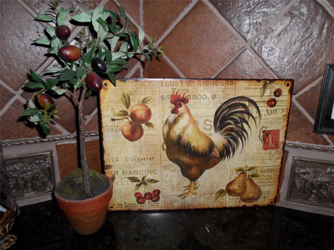 French Country Kitchen Rooster Decor Novocom Top
