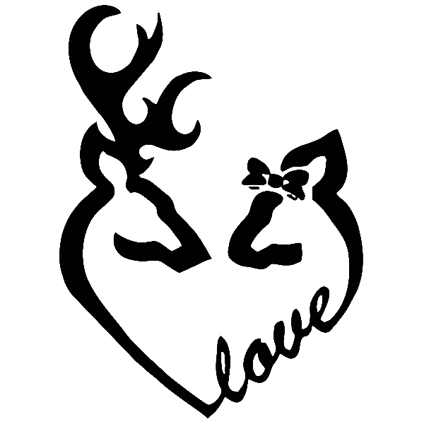 Download Buck And Doe Love Die Cut Decals Sticker Graphics For Car ...