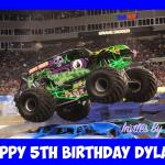 Grave Digger Monster Trucks A4 Edible Image Cake Topper Birthday Party Kids Ebay