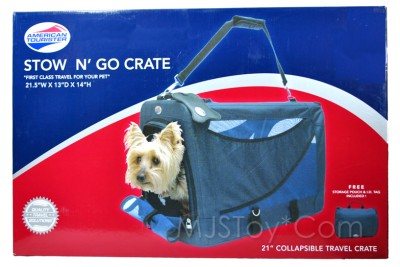 American Tourister Pet Collapsible Stow N Go Travel Crate BONUS Pouch Amp ID Tag EBay