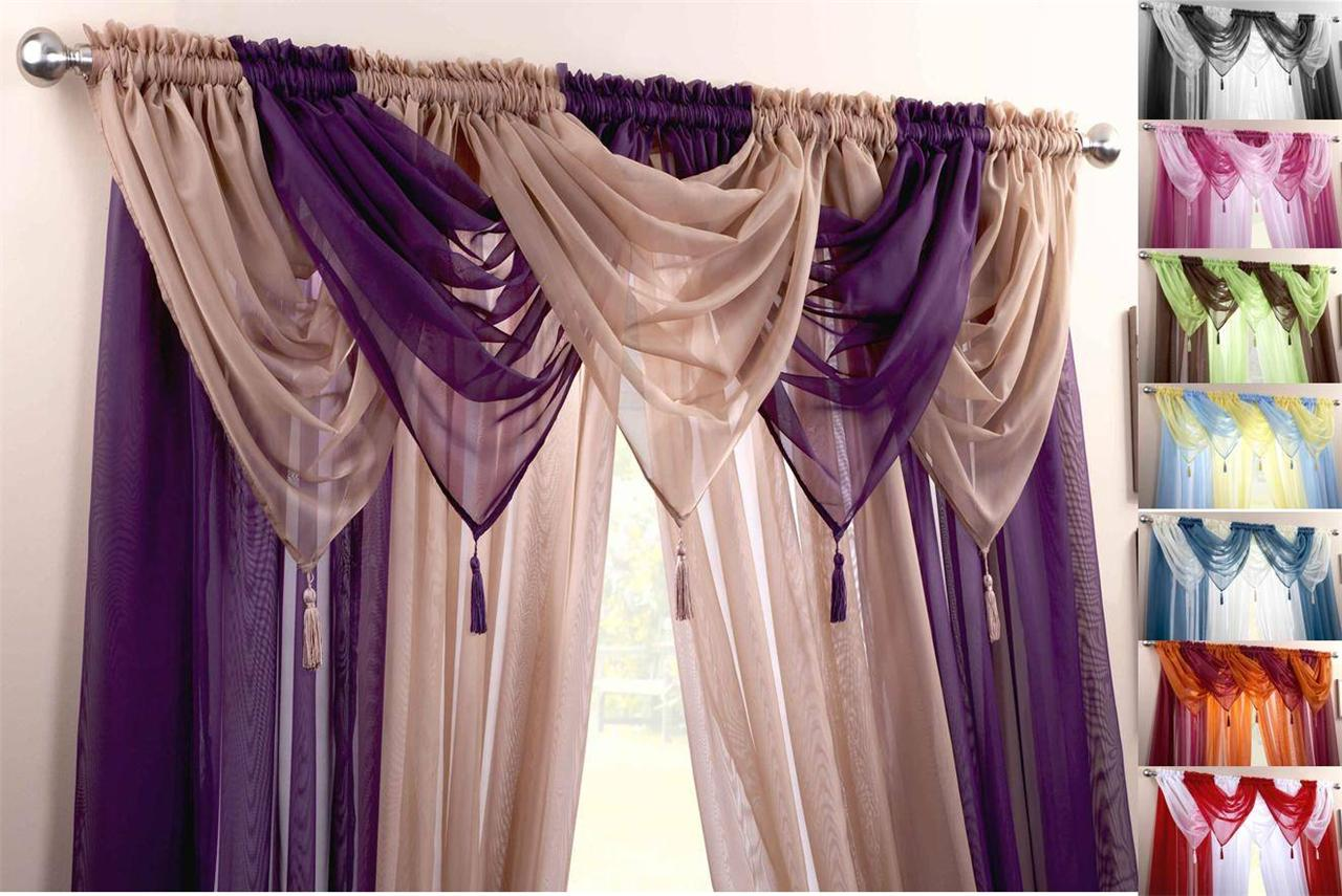 Voile Swag Swags Tassle Decorative Net Curtain D S