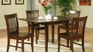 5PC RECTANGULAR KITCHEN DINETTE TABLE 4 CHAIRS MAHOGANY EBay