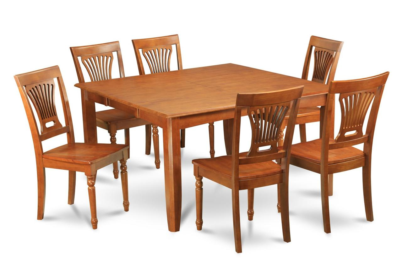 9 PC SQUARE DINETTE KITCHEN DINING TABLE SET 8 WOOD CHAIRS