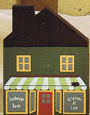 Attorney/Bank building-Cats Meow Village
