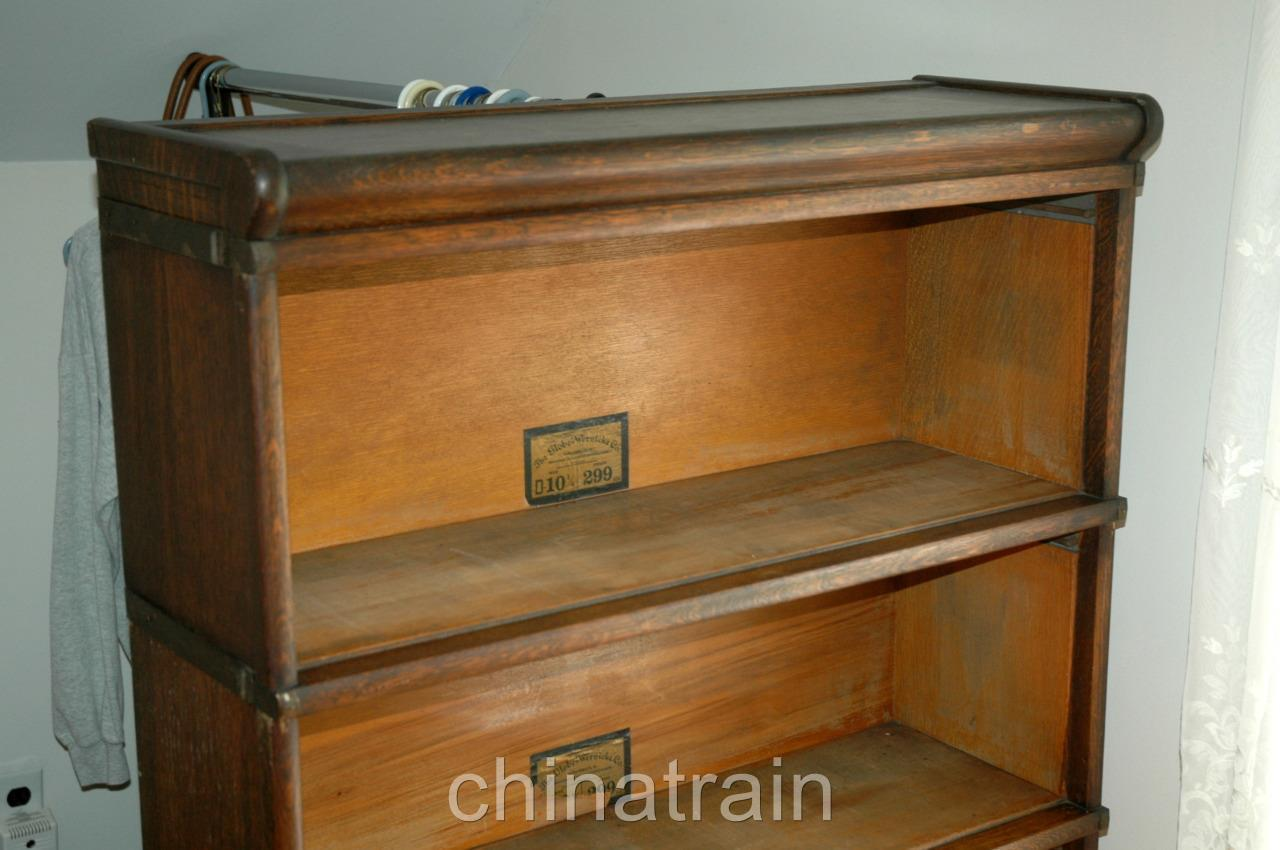 Details About Antique Globe Wernicke Stacking Barrister Bookcase 4 Section D 8 1 2 No Doors
