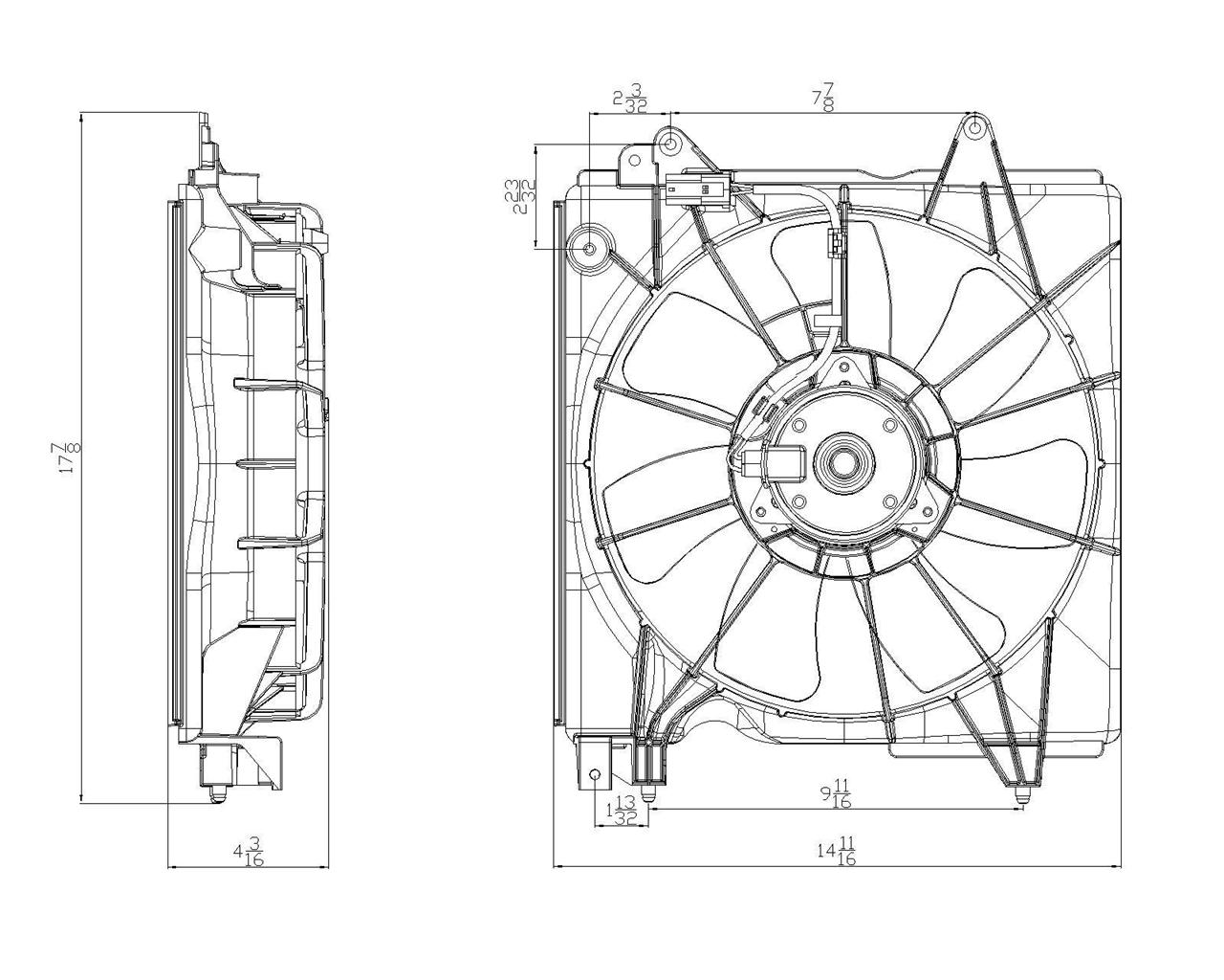 New Dual Radiator And Condenser Fan Fits Acura Ilx Hybrid