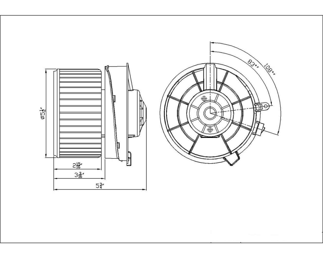 New Hvac Front Blower Motor Fits Nissan Rogue