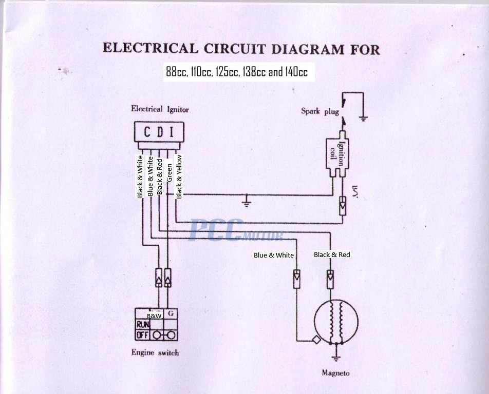 49cc Chinese Scooter Wiring Diagram  Somurich