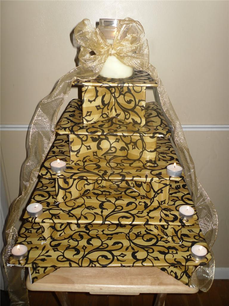 Gold 3 Tier Cupcake Stand