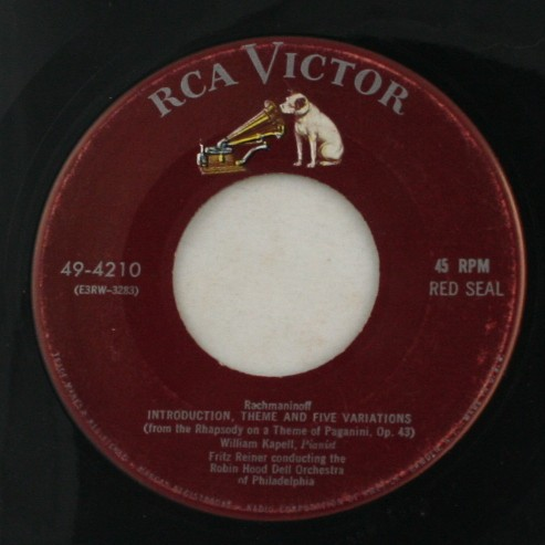 vinyl record, 45, Rachmaninoff