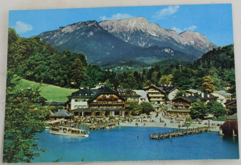 vintage postcard, international cities towns, Germany, Konigssee, Bavaria