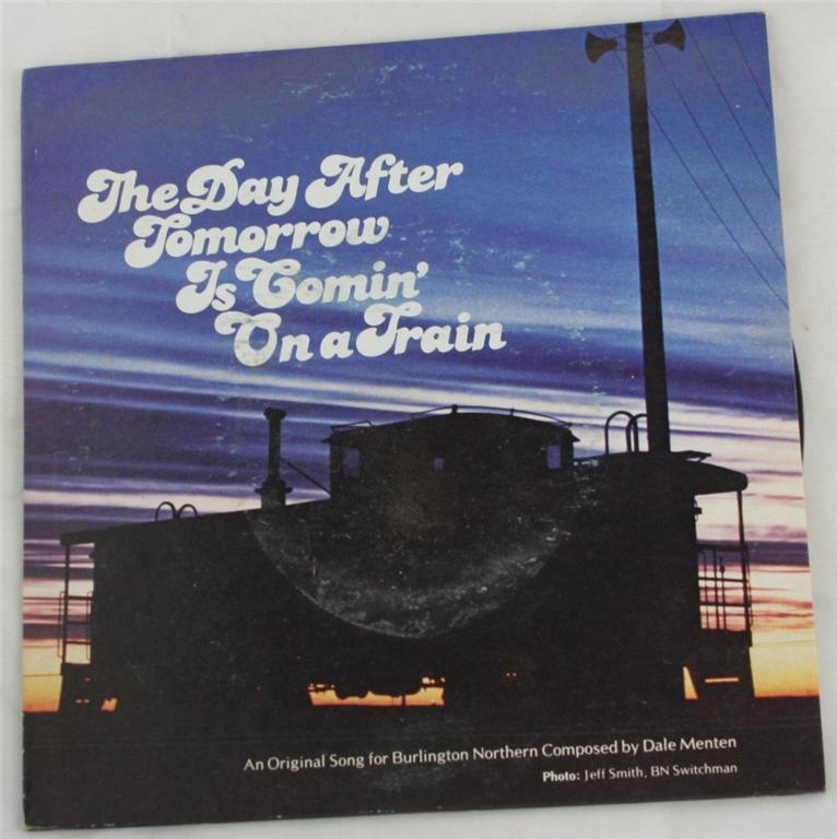 vintage 45 record, Burlington Northern, railroad, specialty record