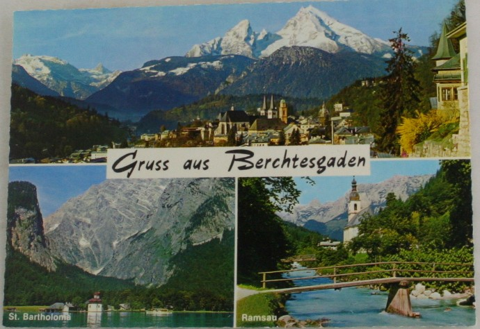 vintage postcard, Berchtesgaden, Bavaria, Germany