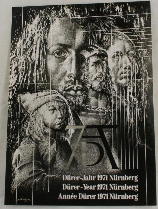 vintage postcard, Germany, Durer,  Nurnberg, Bavaria