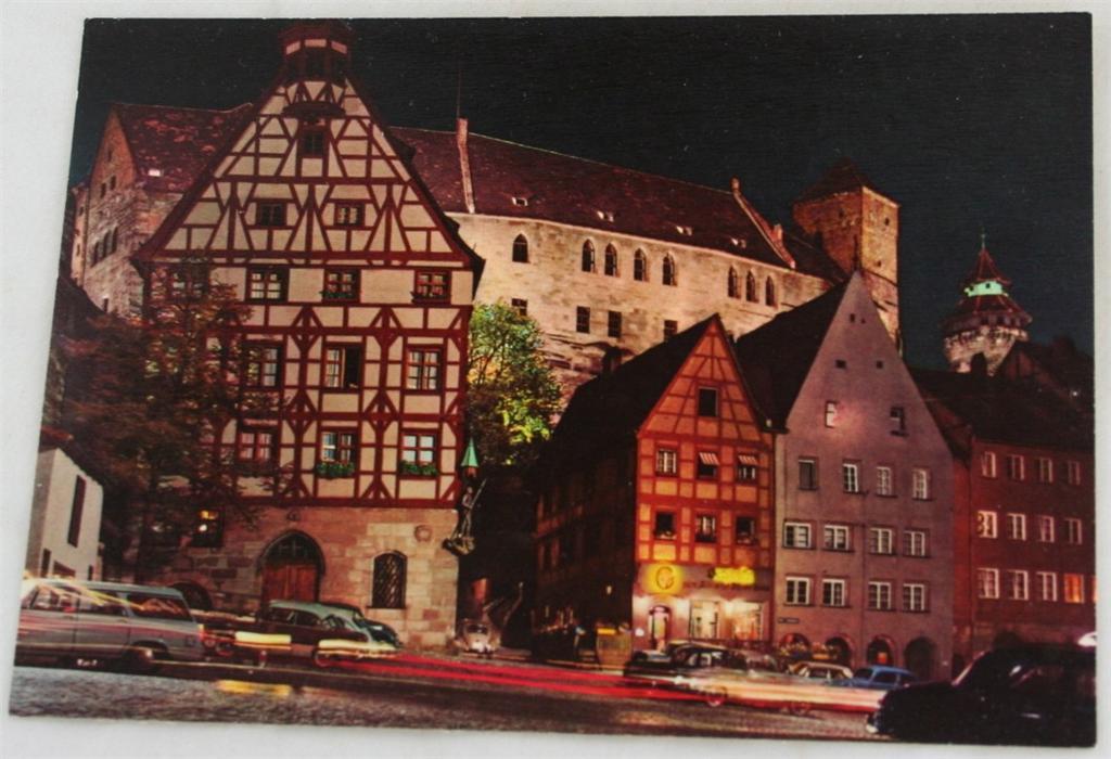 vintage postcard, Germany, town view, Nurnberg, Bavaria