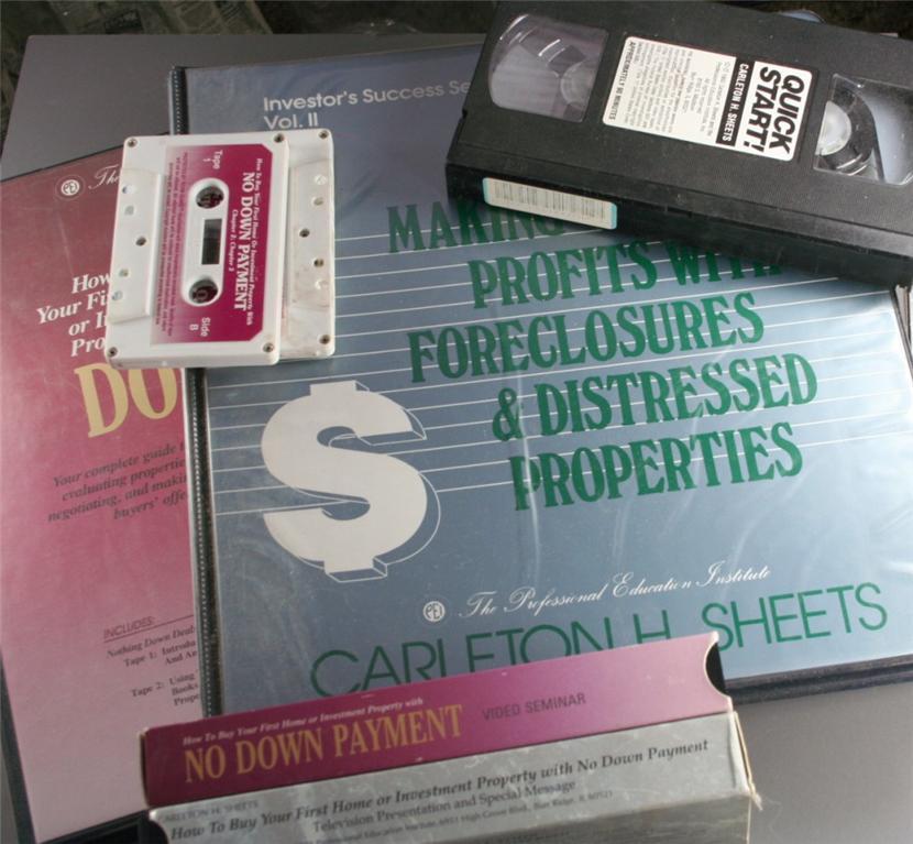real estate, course, investment, carleton sheets,VHS,Cassette