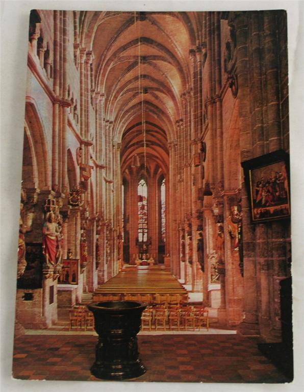 vintage postcard, Bavaria, Germany, Nurnberg, St. Sebald