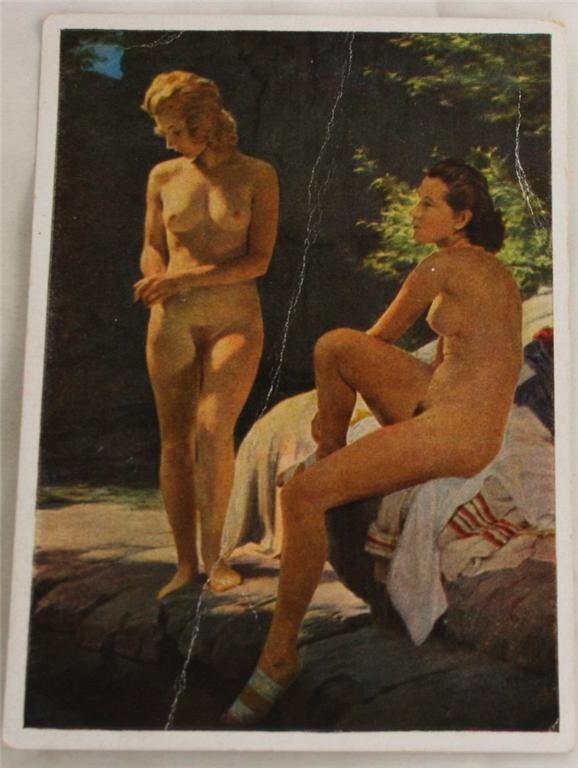 vintage postcard, Germany, Munich, House of German Art, Johann Schult, nude