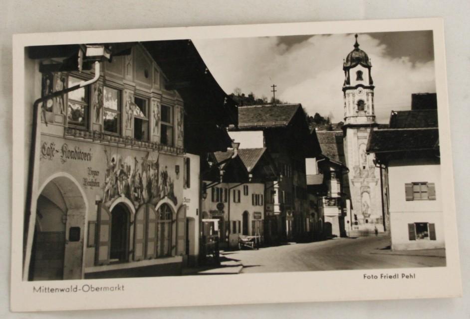 vintage postcard, Germany, Bavaria, Mittenwald