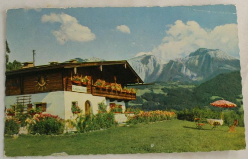 vintage postcard, berchtesgadener land, villa, schonau, germany, Bavaria
