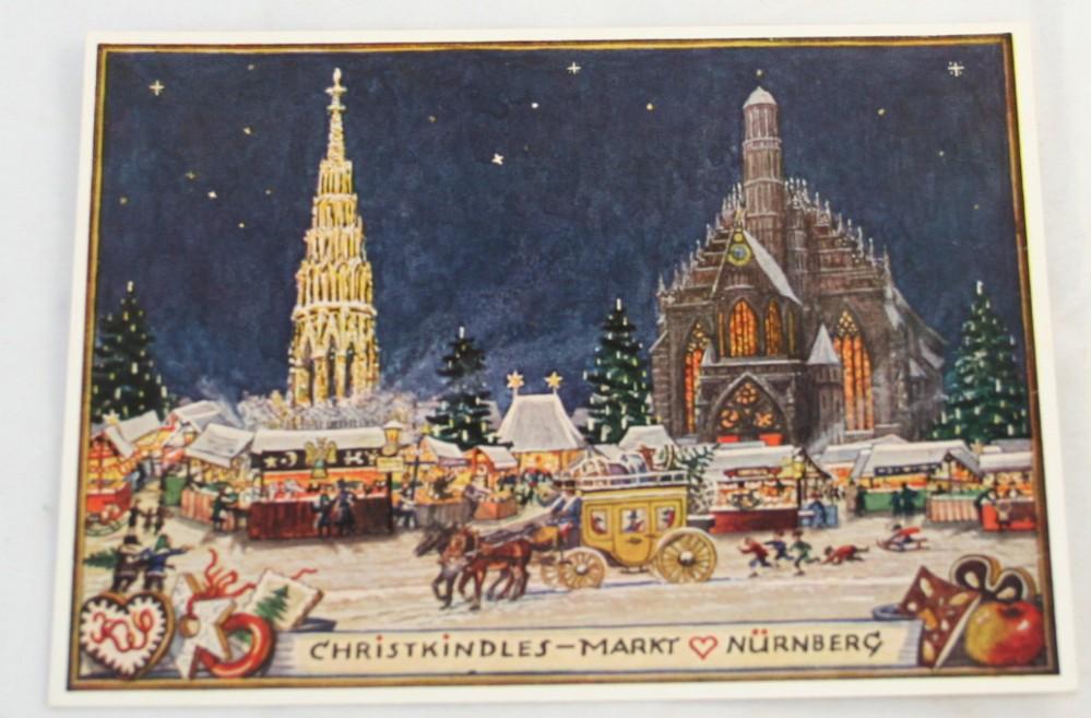 vintage postcard, Nurnberg, Christkindles-Markt,K. Scheiner