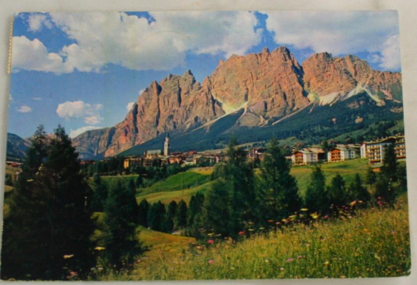 vintage postcard, Cortina, Italy