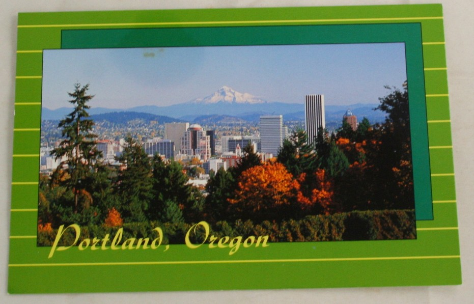 vintage postcard, Mt. Hood, Portland, Oregon, OR