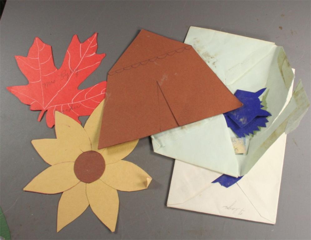 vintage paper, school, cutouts, die cut