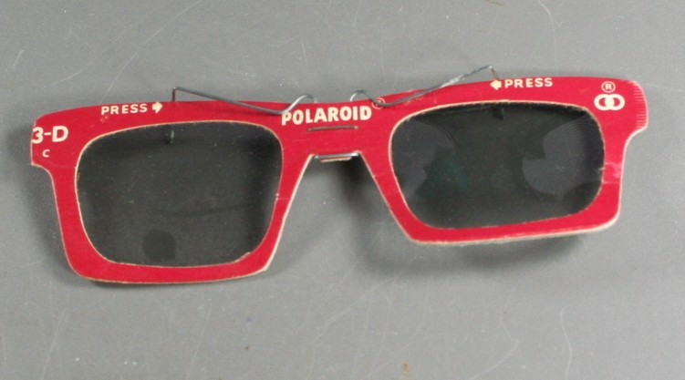 Polaroid, vintage ephemera, 3D glasses, clip on