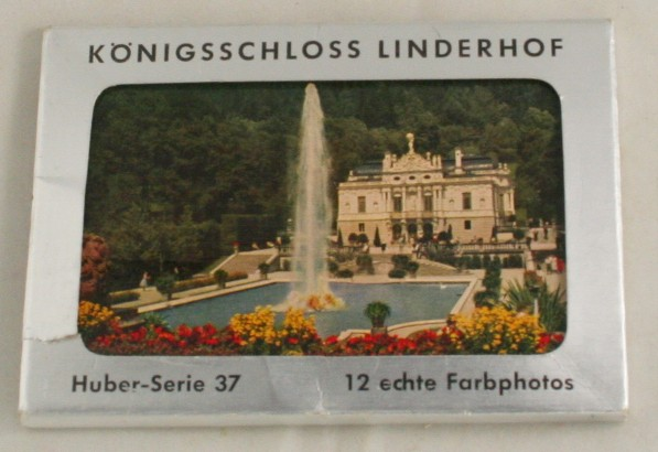 vintage postcard, postcard set, Bavaria, Germany, Schloss Linderhof