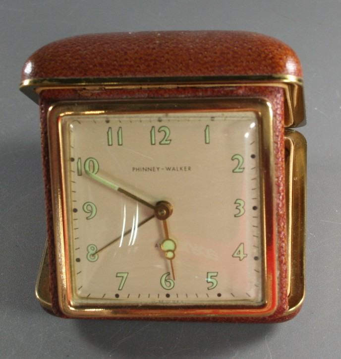 vintage clock, travel, alarm, Phinney Walker