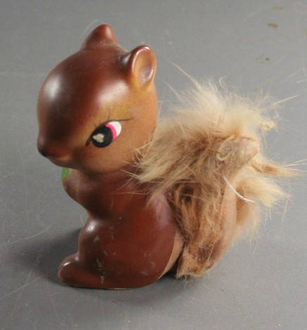 vintage ceramic figurine, squirrel, Enesco, Japan