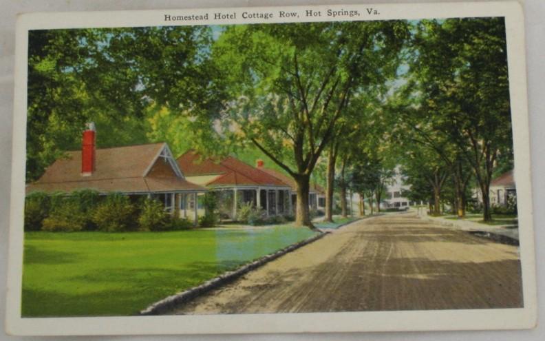vintage postcard, Hot Springs, Virginia, VA, Hand colored, hand coloured