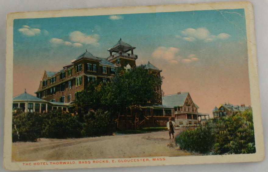 vintage postcard, Gloucester,Massachussets,MA, Hand colored, hand coloured