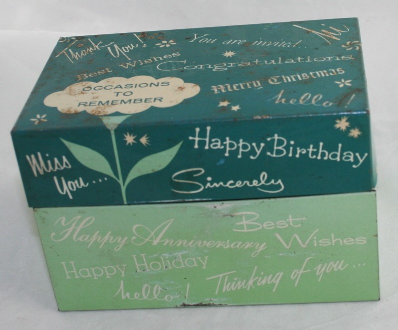 vintage recipe box, tin,Stylemaster,all occasion