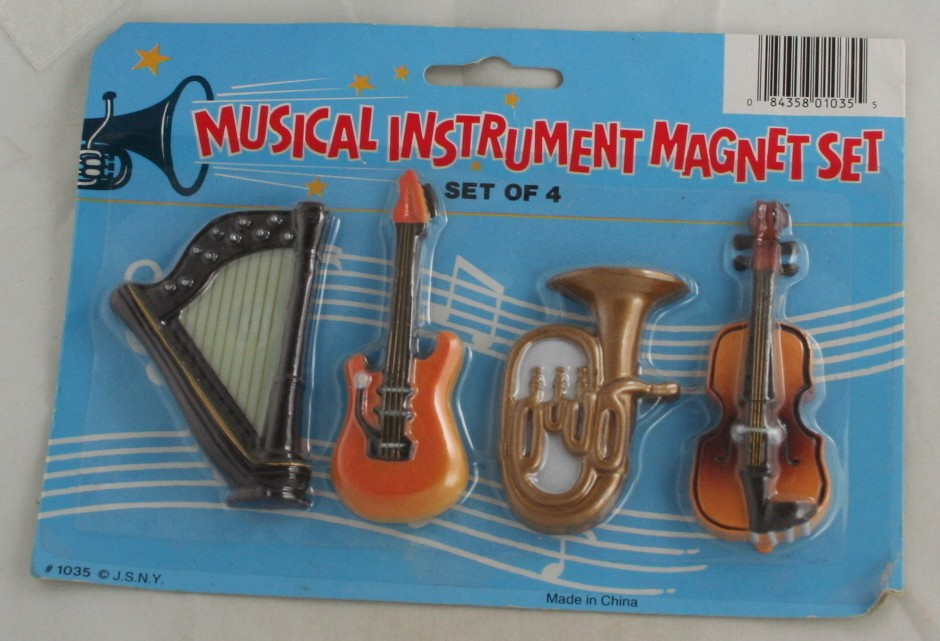 refrigerator magnets, set, musical instruments