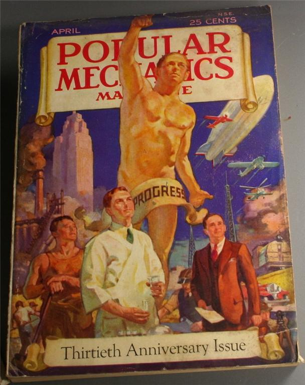 vintage magazine, back issue, Popular Mechanics,April, 1932