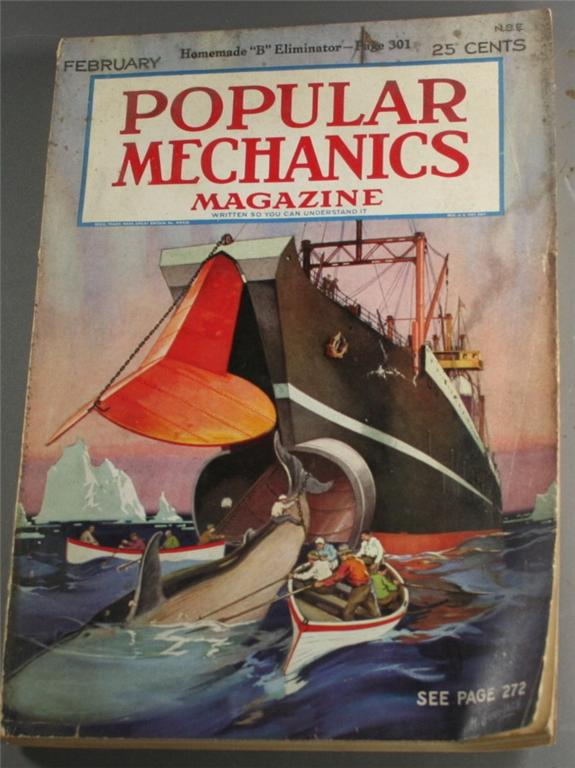 vintage magazine, back issue, Popular Mechanics,February, 1927