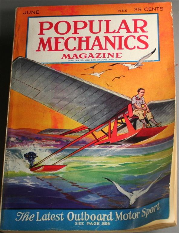 vintage magazine, back issue, Popular Mechanics,June, 1930