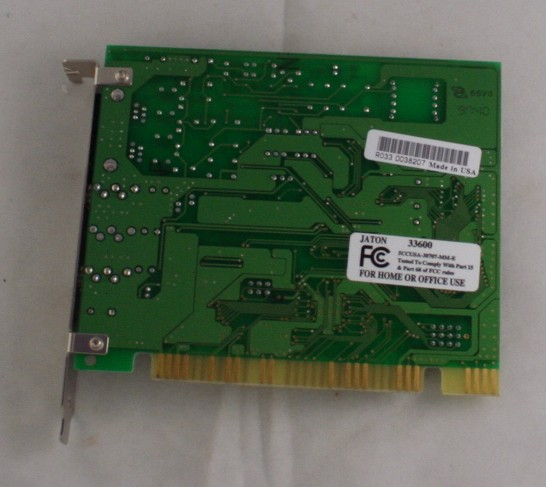 vintage modem, internal, sound card, Jaton, 33.6K