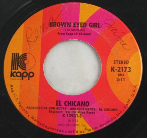 vintage record,45,vinyl,El Chicano,Brown Eyed Girl, Kapp Records