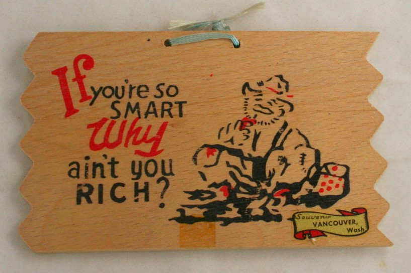 vintage postcard,novelty,wood,comic,humor,Vancouver,WA