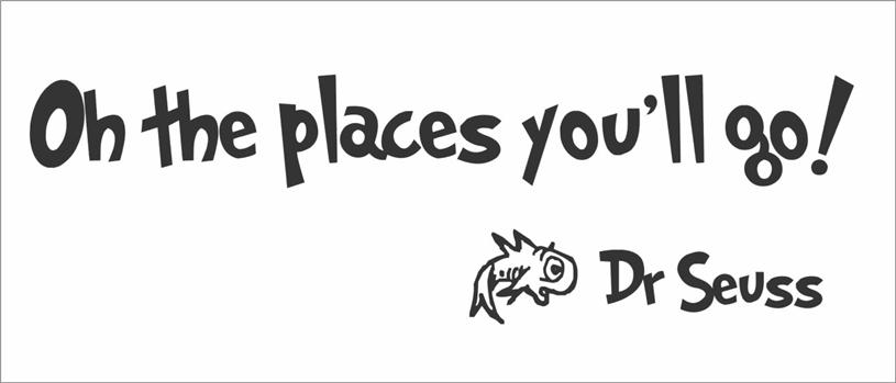 details about oh the places you ll go dr seuss quote wall vinyl
