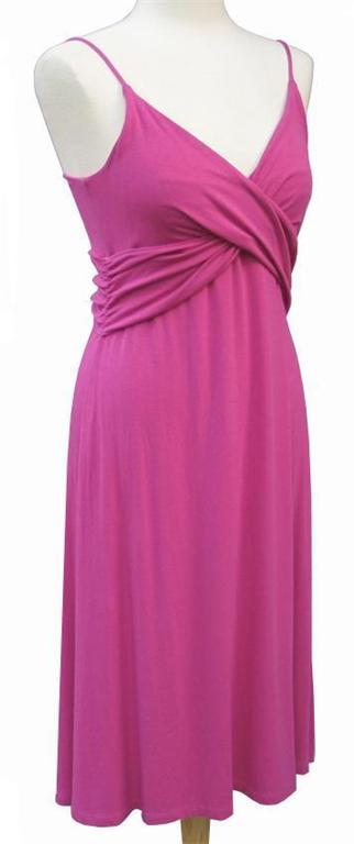 TAHARI By Elie Tahari Pink Fuchsia Knit Surplice Dress MEDIUM NWT 198 EBay