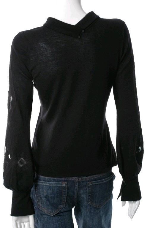ELIE TAHARI Black GABRIELLA Extra Fine Merino Wool Sweater NEW SMALL EBay
