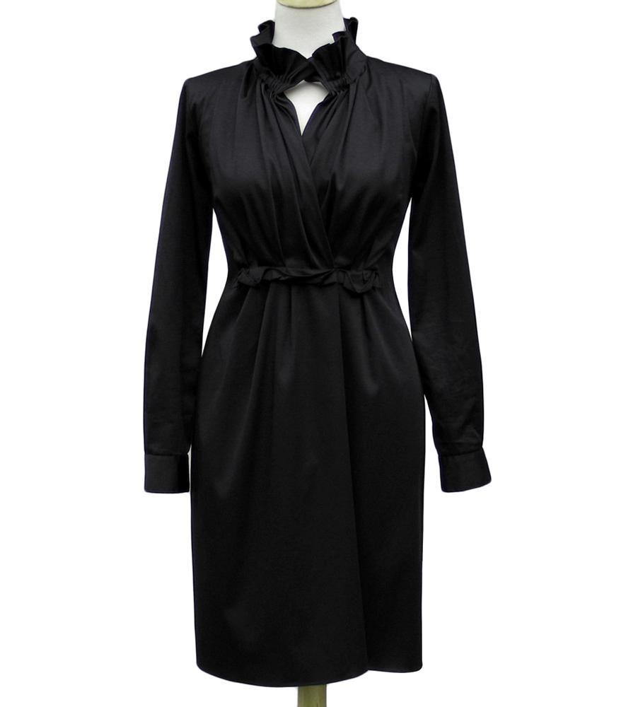 Elie Tahari Black Stretch Sateen KLOE Dress NWT Size 10 US 14 UK 42 EU EBay