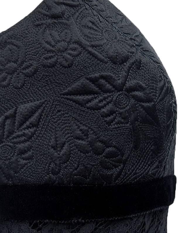 ELIE TAHARI Black Embroidered Lace ELIA Blouse Top NWT