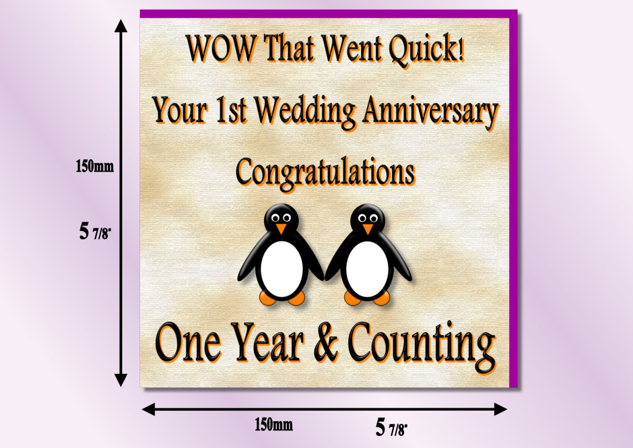 1st Wedding Anniversary Wishes For Friend 3
