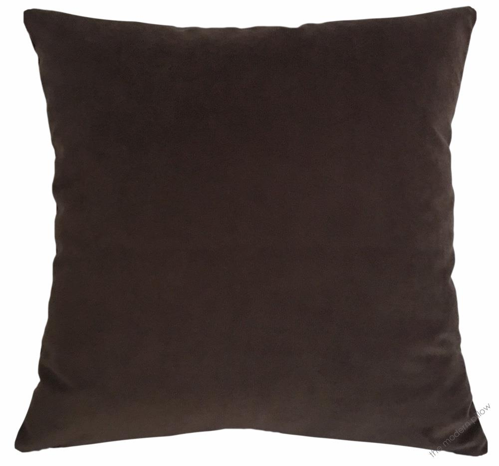 details about chocolate brown velvet decorative throw pillow cover cushion cover 20x20