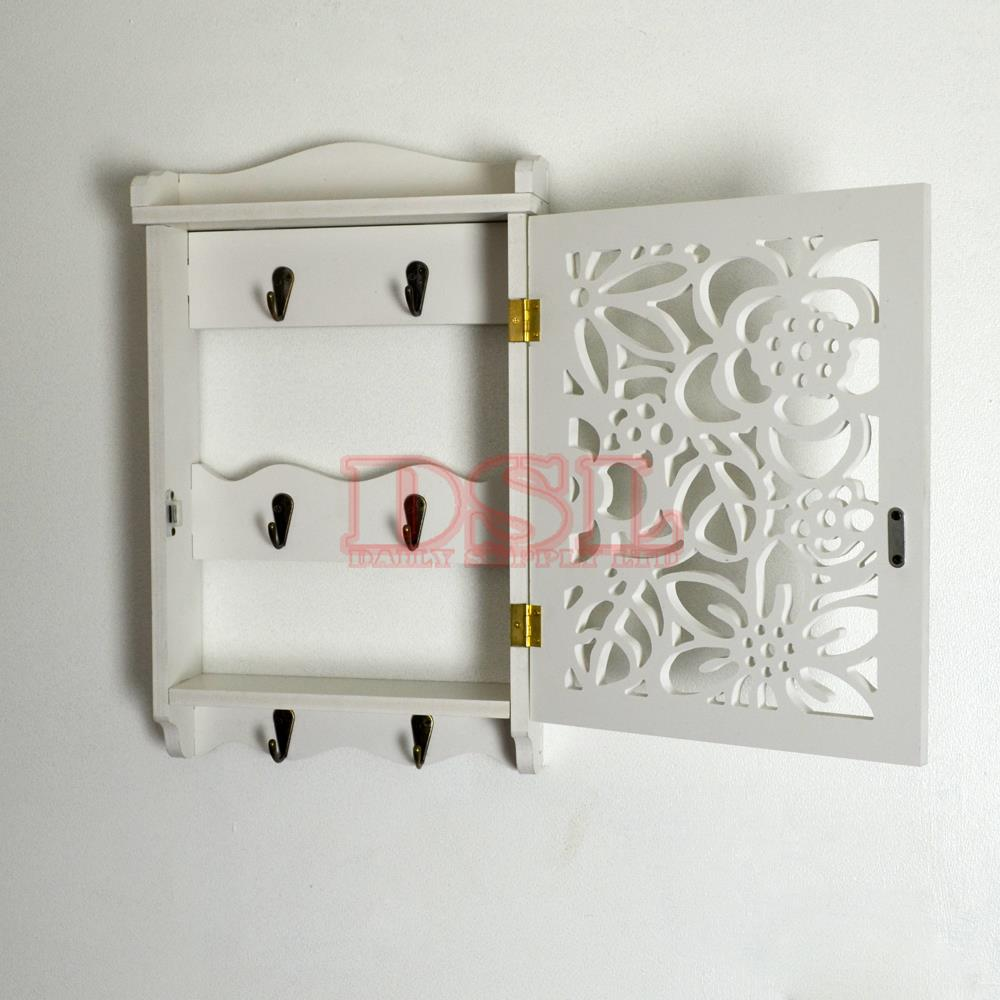 DIY Wall Mounted Filigree Key Box Brackets Cupboard Hooks Holder Storage Cabinet EBay